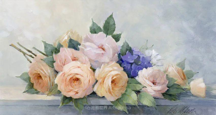 清新淡雅的花卉,英国画家彼得·麦高文插图75