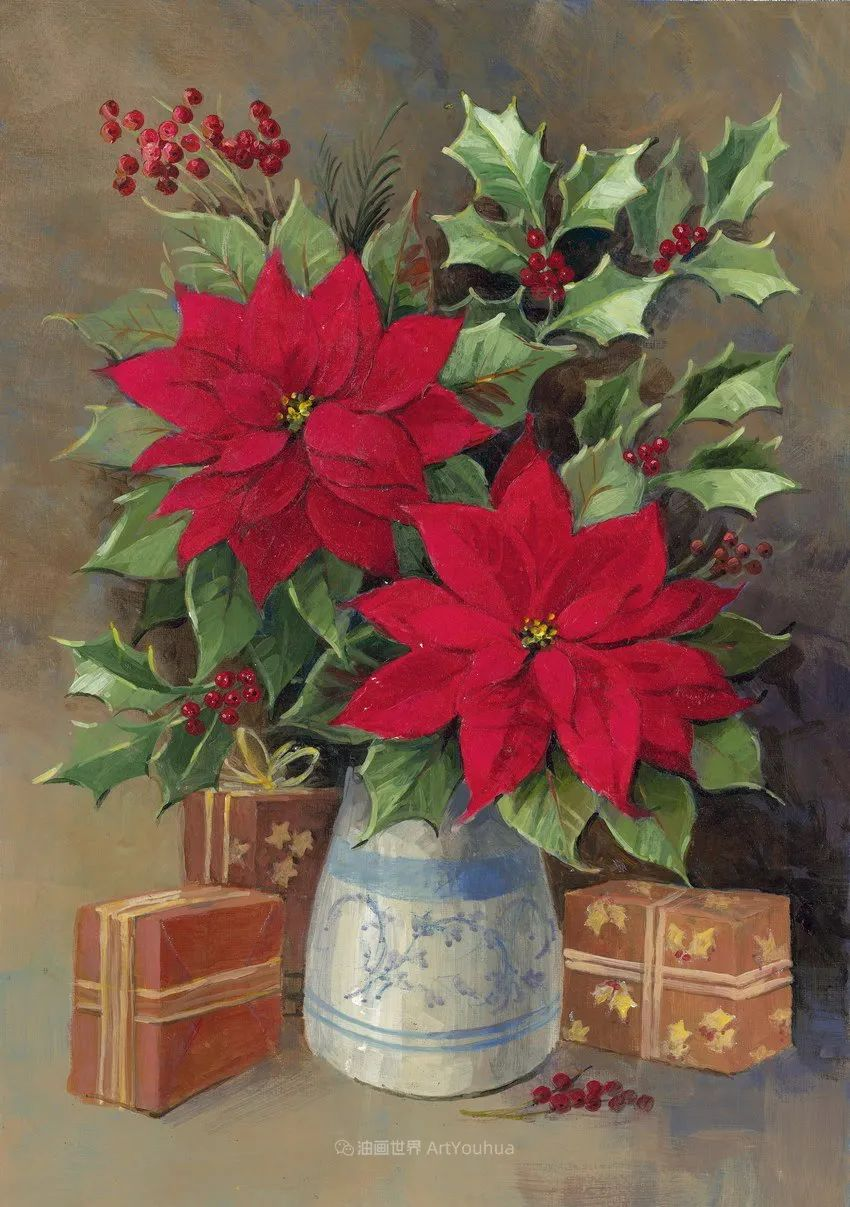清新淡雅的花卉,英国画家彼得·麦高文插图79