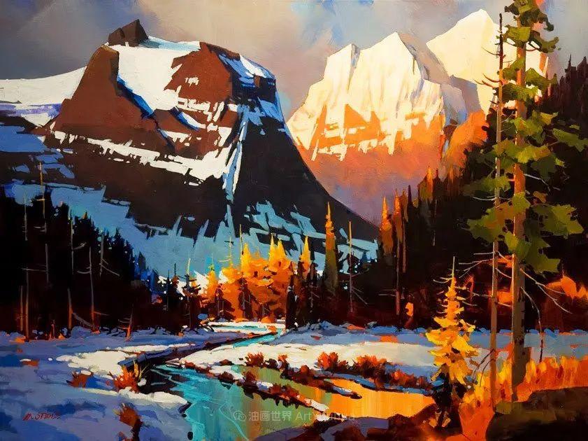 绘画是他全力以赴的激情,笔下风景光色交加,生动有趣!插图1