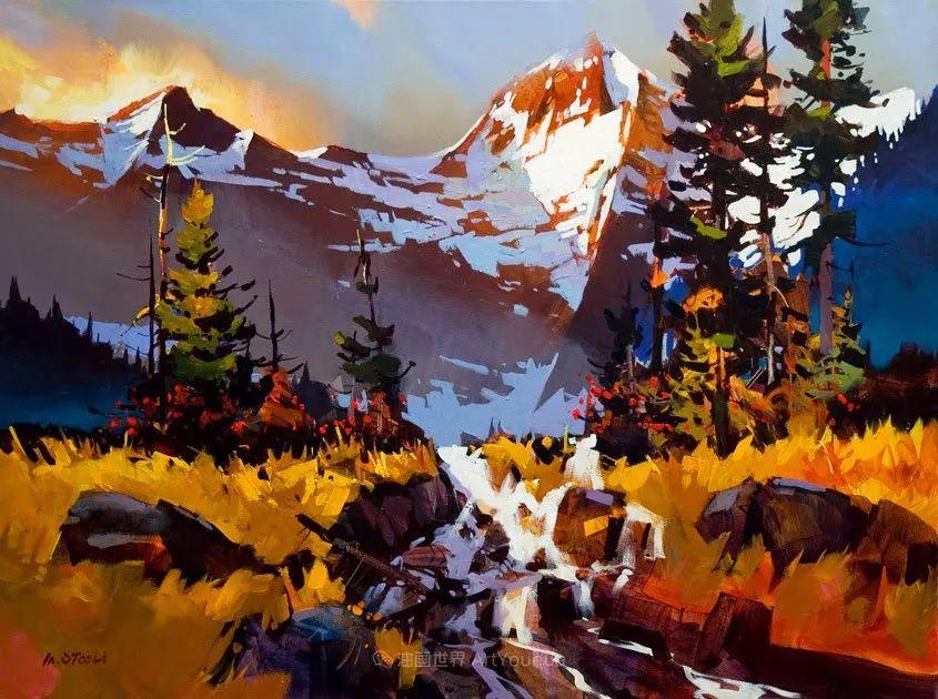 绘画是他全力以赴的激情,笔下风景光色交加,生动有趣!插图5