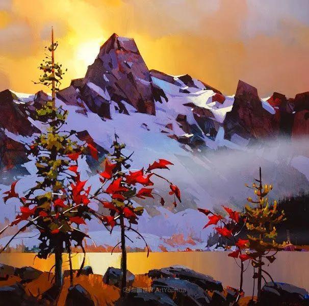 绘画是他全力以赴的激情,笔下风景光色交加,生动有趣!插图7
