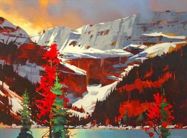 绘画是他全力以赴的激情,笔下风景光色交加,生动有趣!插图11