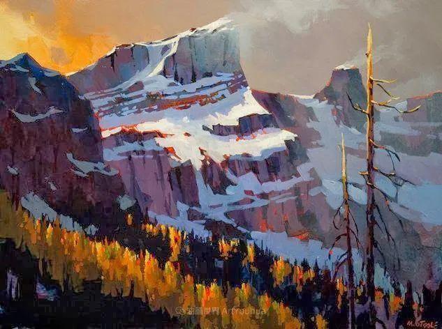 绘画是他全力以赴的激情,笔下风景光色交加,生动有趣!插图13