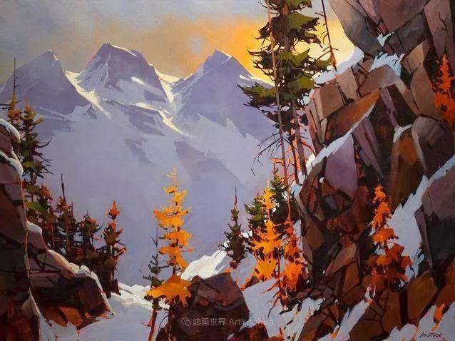 绘画是他全力以赴的激情,笔下风景光色交加,生动有趣!插图15