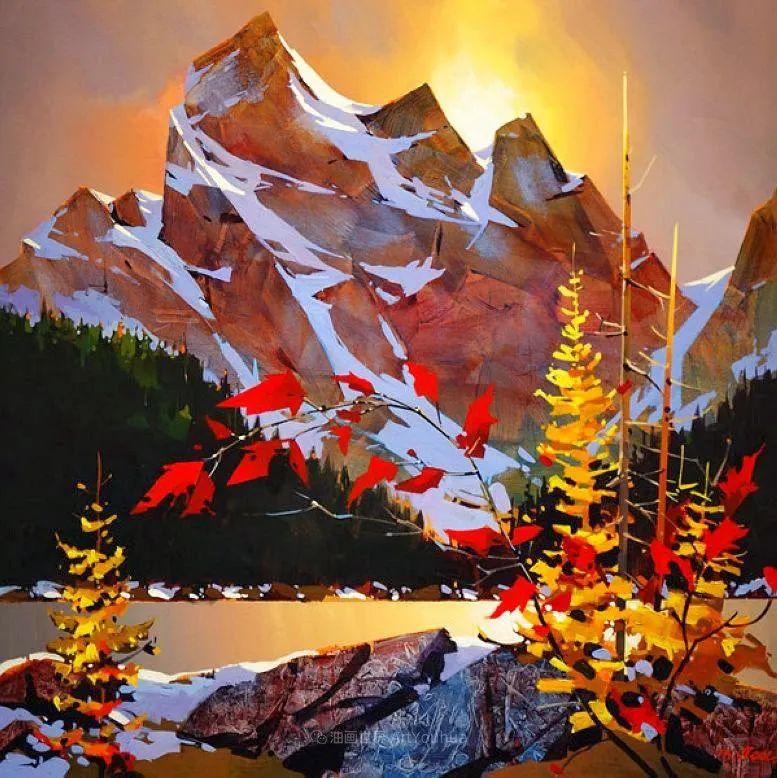 绘画是他全力以赴的激情,笔下风景光色交加,生动有趣!插图17