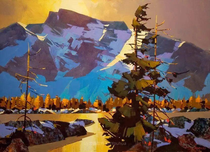 绘画是他全力以赴的激情,笔下风景光色交加,生动有趣!插图19