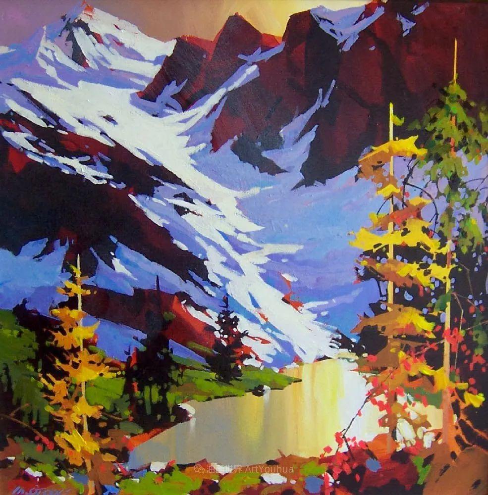 绘画是他全力以赴的激情,笔下风景光色交加,生动有趣!插图27