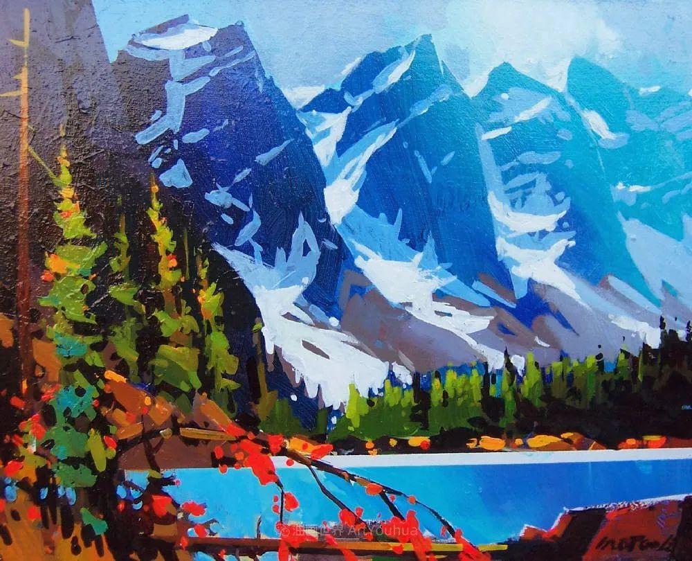 绘画是他全力以赴的激情,笔下风景光色交加,生动有趣!插图29