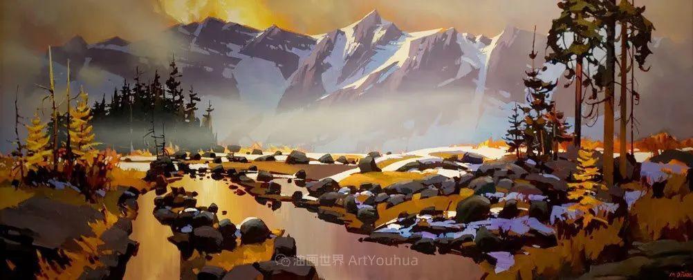 绘画是他全力以赴的激情,笔下风景光色交加,生动有趣!插图31