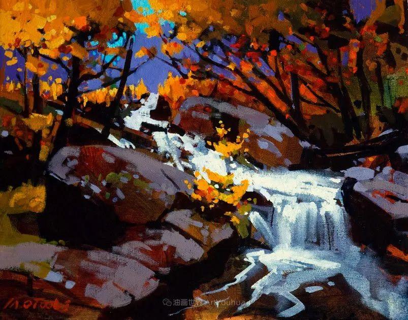 绘画是他全力以赴的激情,笔下风景光色交加,生动有趣!插图39