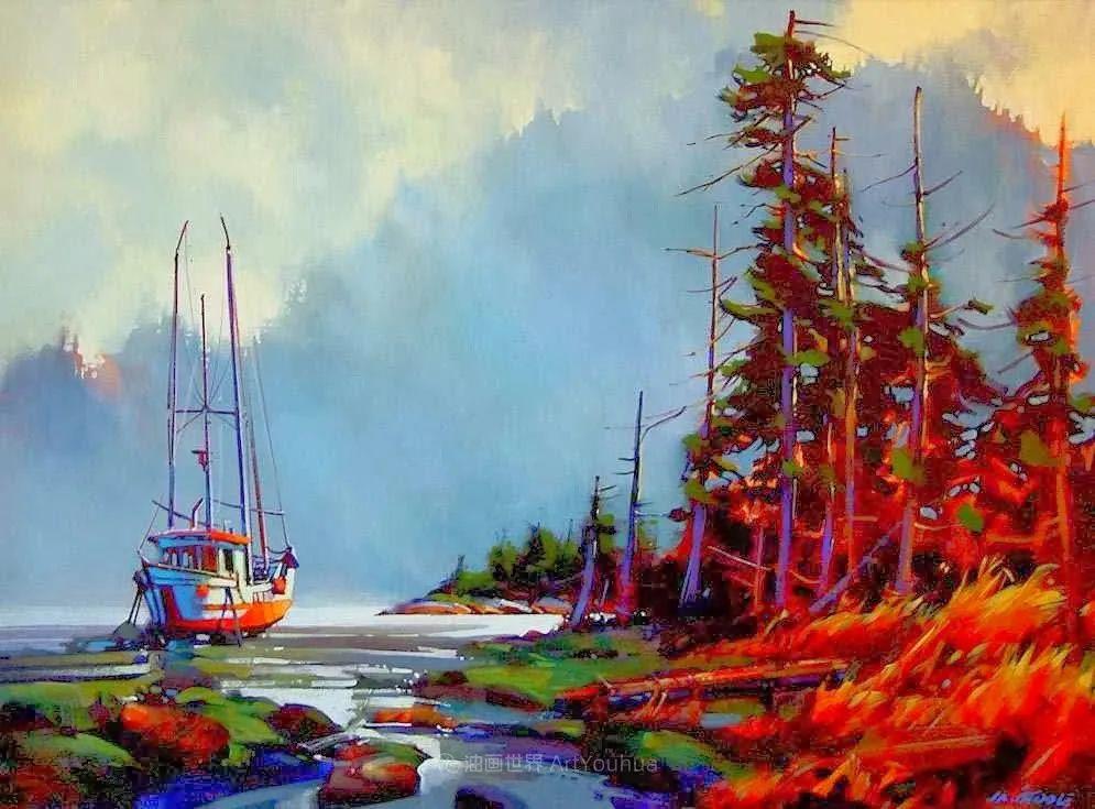 绘画是他全力以赴的激情,笔下风景光色交加,生动有趣!插图43