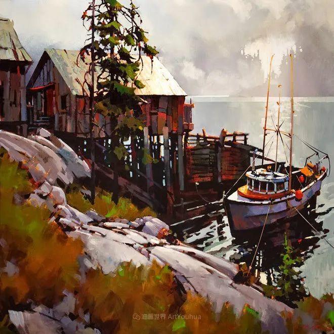 绘画是他全力以赴的激情,笔下风景光色交加,生动有趣!插图45