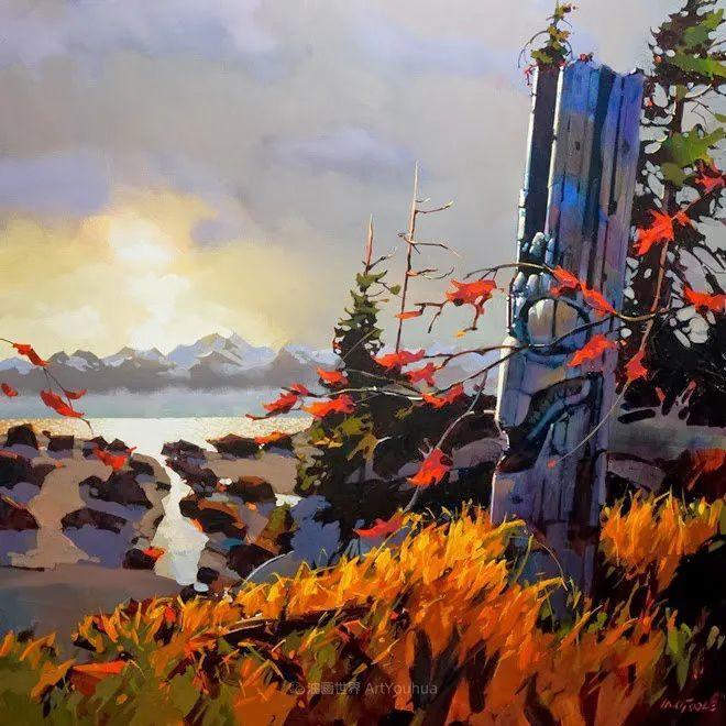 绘画是他全力以赴的激情,笔下风景光色交加,生动有趣!插图47