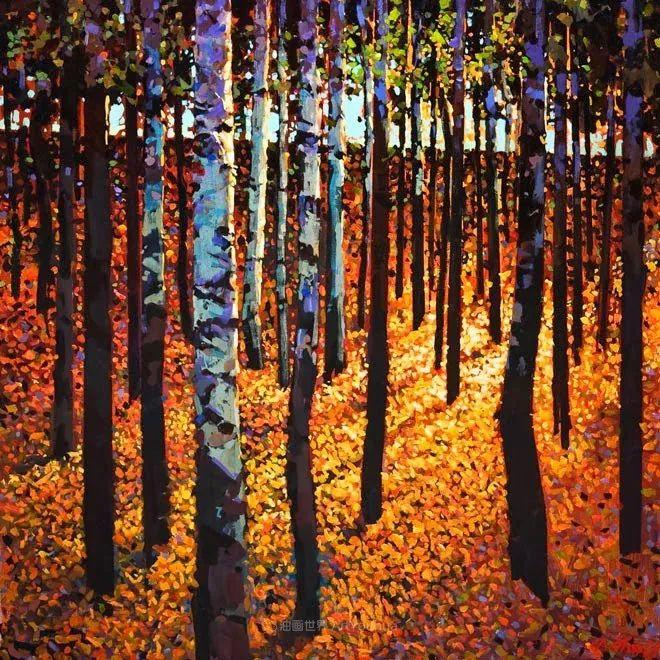 绘画是他全力以赴的激情,笔下风景光色交加,生动有趣!插图49
