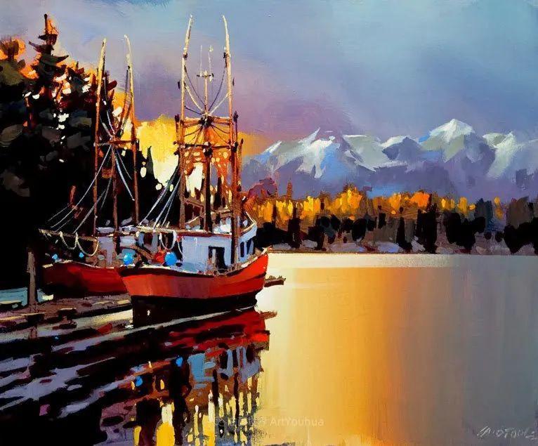绘画是他全力以赴的激情,笔下风景光色交加,生动有趣!插图55