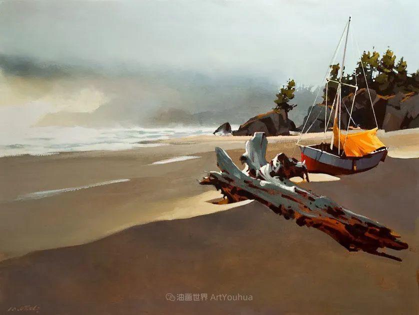 绘画是他全力以赴的激情,笔下风景光色交加,生动有趣!插图59