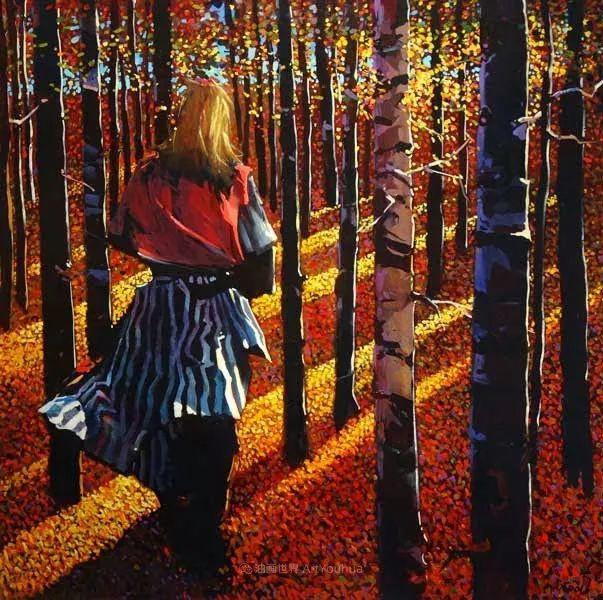 绘画是他全力以赴的激情,笔下风景光色交加,生动有趣!插图63