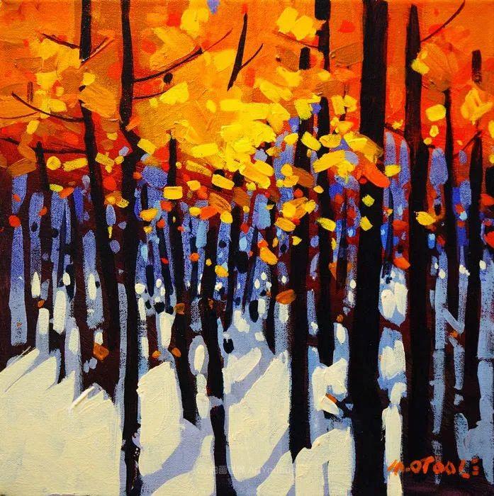 绘画是他全力以赴的激情,笔下风景光色交加,生动有趣!插图69