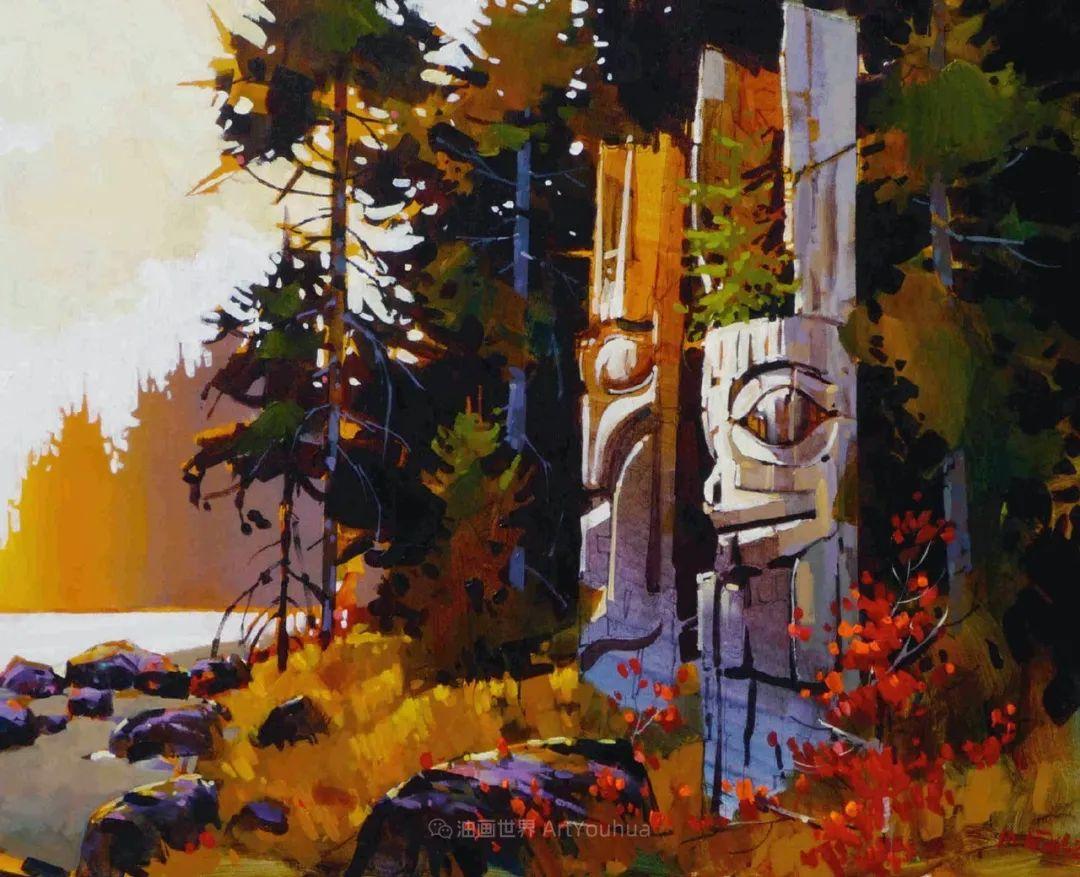 绘画是他全力以赴的激情,笔下风景光色交加,生动有趣!插图75