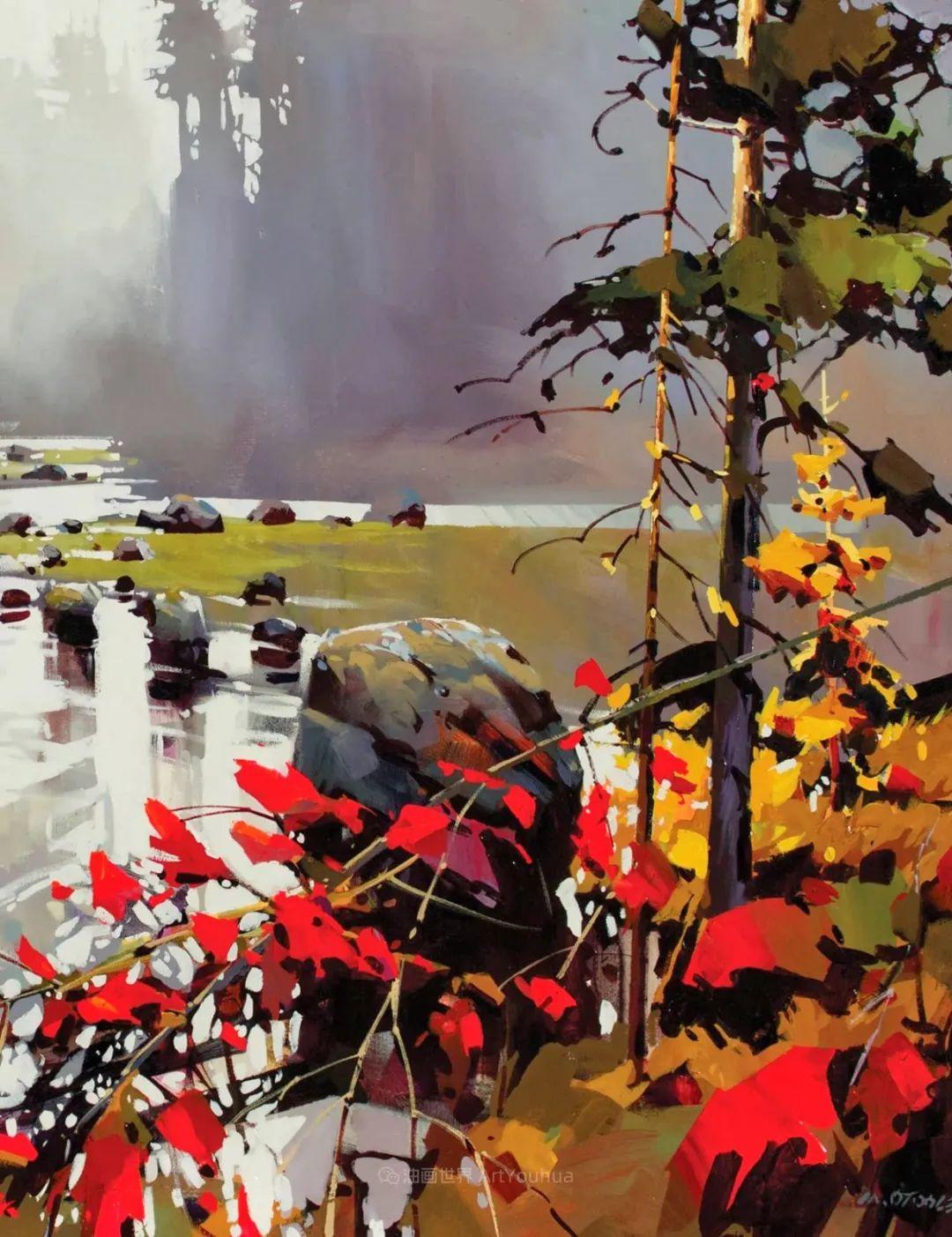 绘画是他全力以赴的激情,笔下风景光色交加,生动有趣!插图77