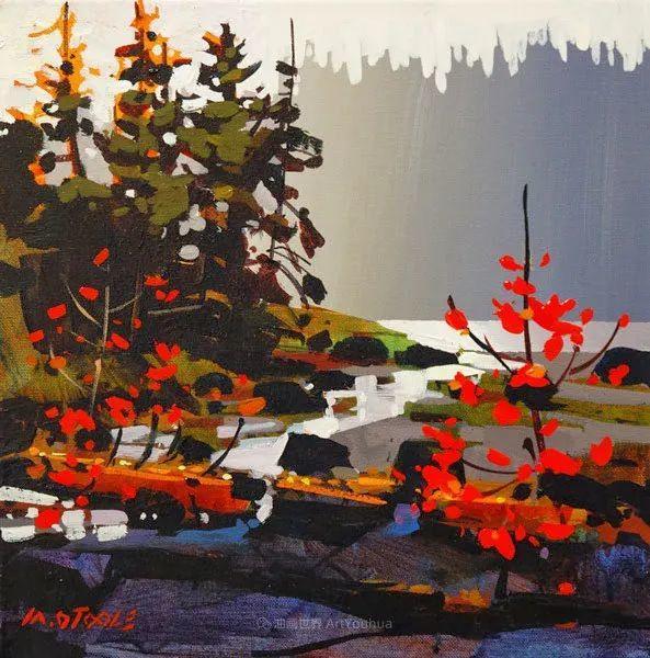 绘画是他全力以赴的激情,笔下风景光色交加,生动有趣!插图79