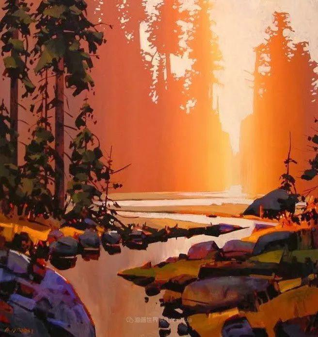 绘画是他全力以赴的激情,笔下风景光色交加,生动有趣!插图89