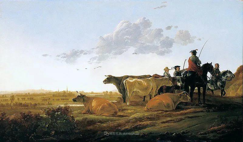 17世纪荷兰黄金时期杰出的风景画家,阿尔伯特·库普插图11
