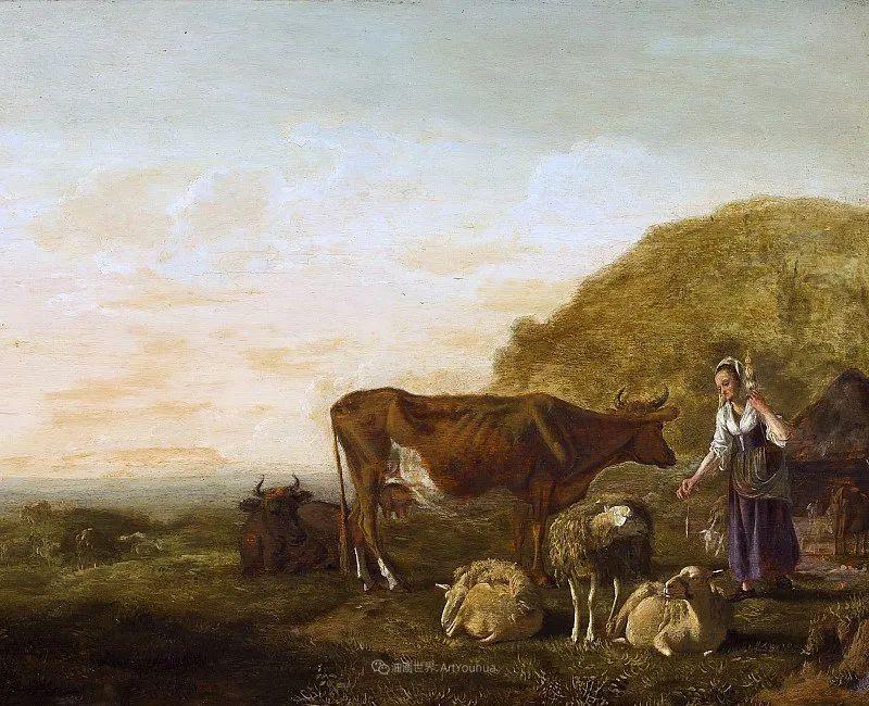 17世纪荷兰黄金时期杰出的风景画家,阿尔伯特·库普插图17