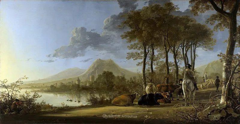17世纪荷兰黄金时期杰出的风景画家,阿尔伯特·库普插图35