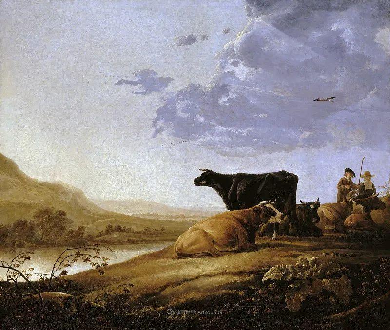 17世纪荷兰黄金时期杰出的风景画家,阿尔伯特·库普插图47