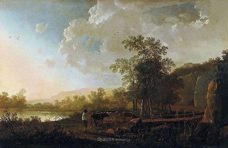 17世纪荷兰黄金时期杰出的风景画家,阿尔伯特·库普插图53