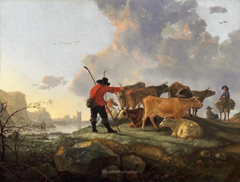 17世纪荷兰黄金时期杰出的风景画家,阿尔伯特·库普插图63