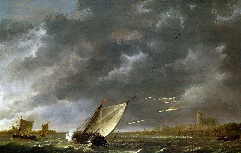 17世纪荷兰黄金时期杰出的风景画家,阿尔伯特·库普插图77
