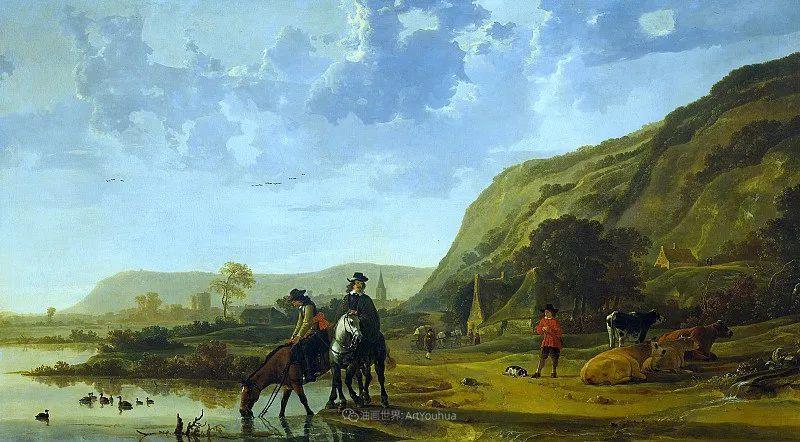 17世纪荷兰黄金时期杰出的风景画家,阿尔伯特·库普插图83