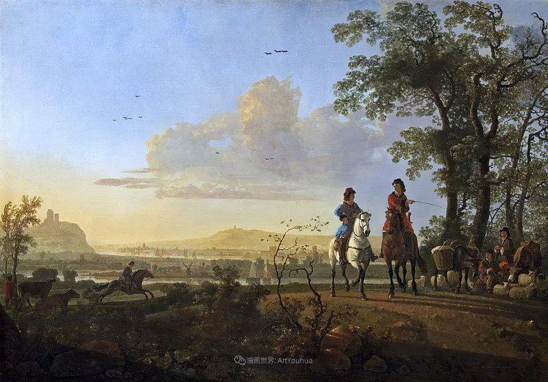 17世纪荷兰黄金时期杰出的风景画家,阿尔伯特·库普插图147