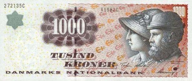 她被印在丹麦最大面值钞票1000克朗上,是丹麦最伟大的艺术家之一插图11