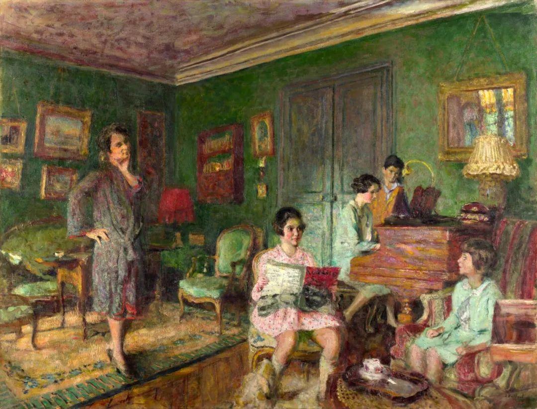 内景主义创始人,法国画家爱德华·维亚尔插图17