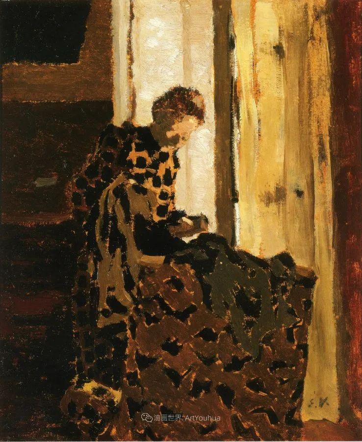 内景主义创始人,法国画家爱德华·维亚尔插图39
