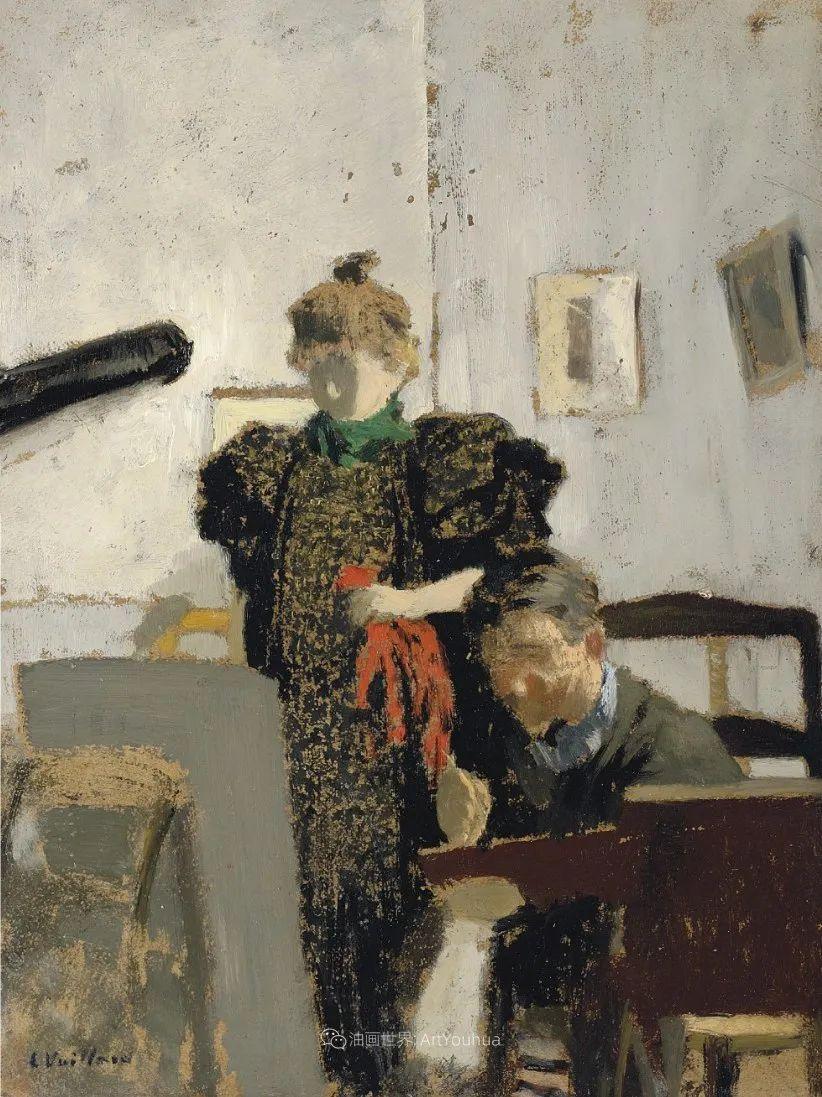 内景主义创始人,法国画家爱德华·维亚尔插图81