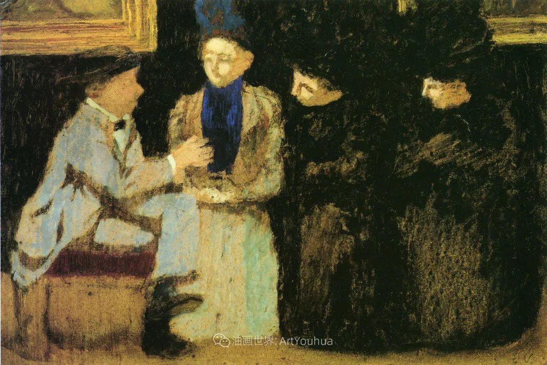 内景主义创始人,法国画家爱德华·维亚尔插图87
