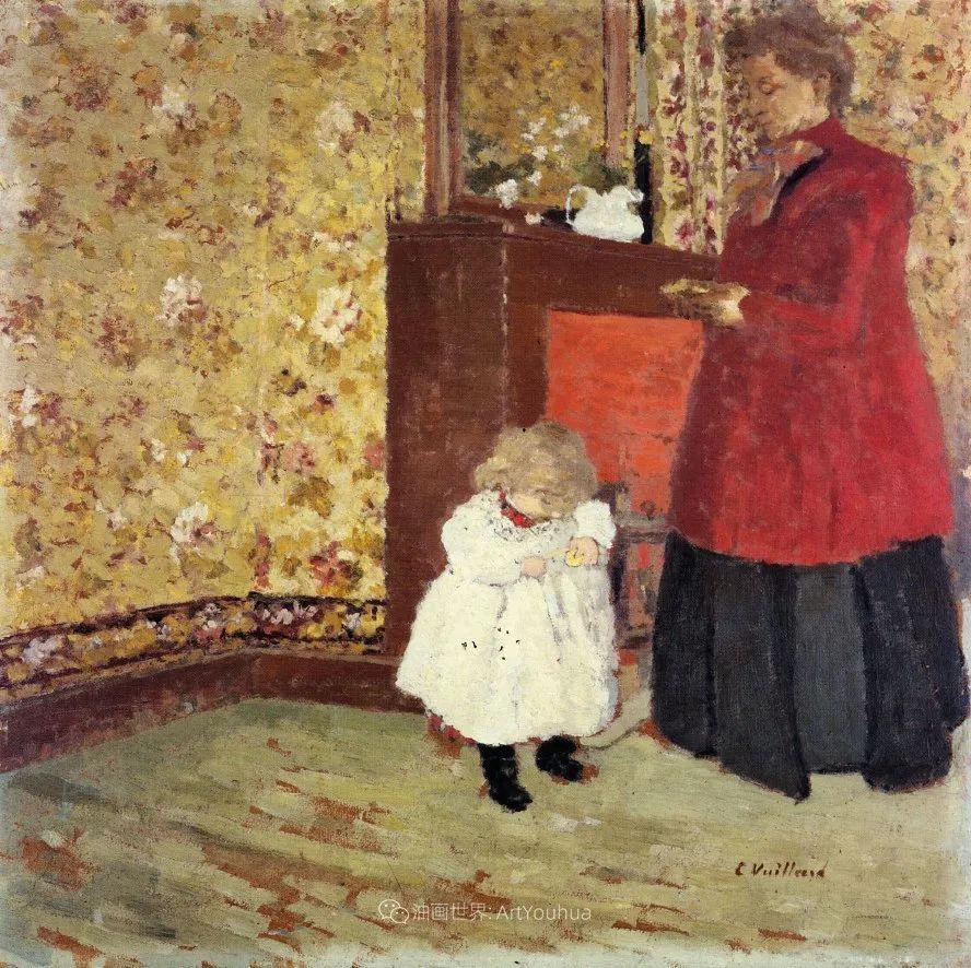 内景主义创始人,法国画家爱德华·维亚尔插图91