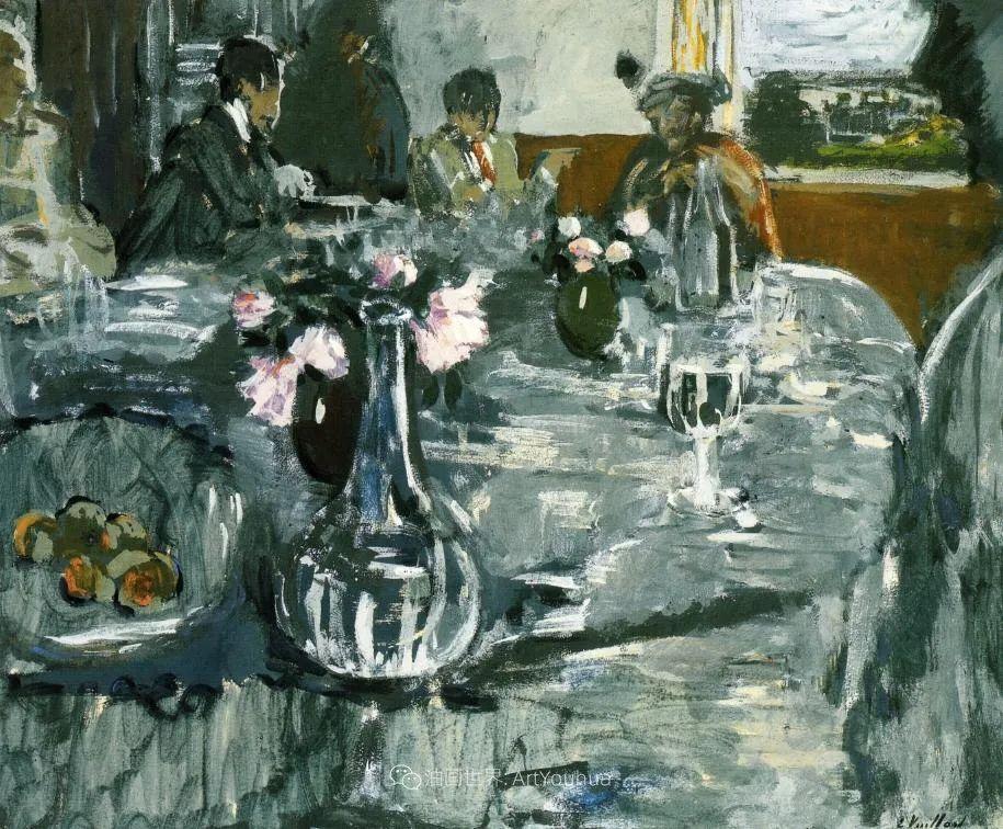 内景主义创始人,法国画家爱德华·维亚尔插图107