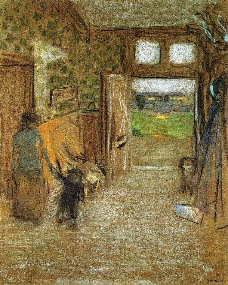 内景主义创始人,法国画家爱德华·维亚尔插图109