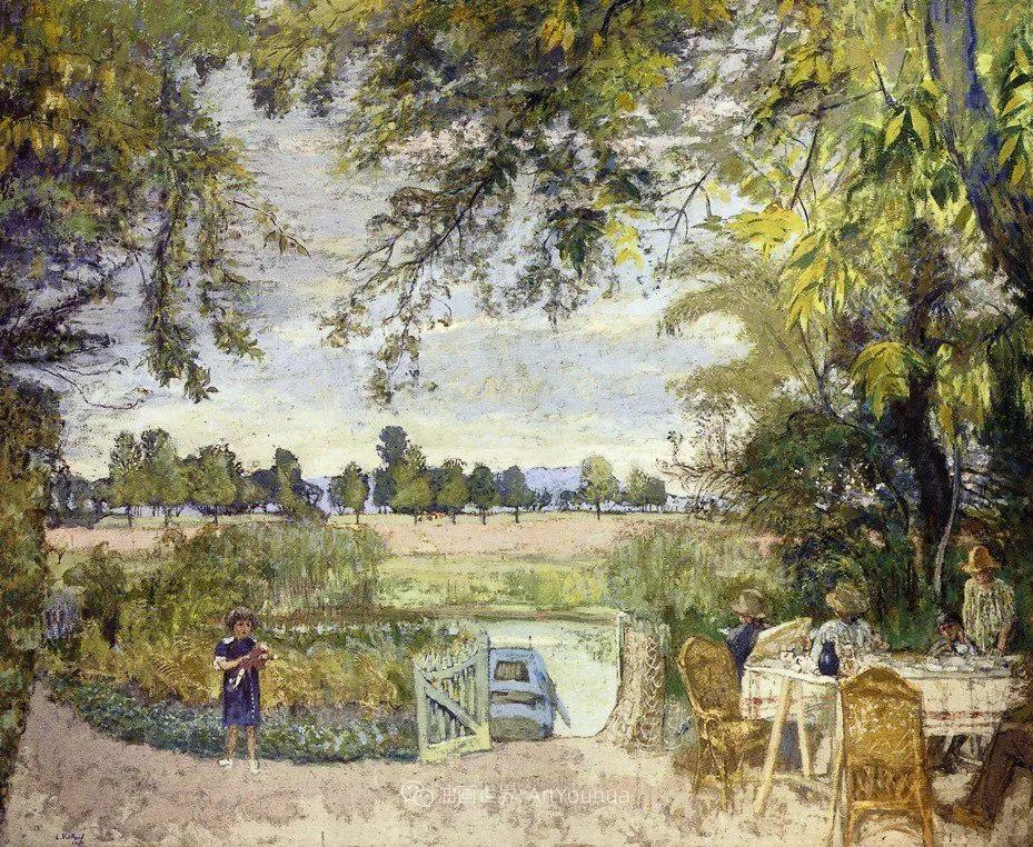 内景主义创始人,法国画家爱德华·维亚尔插图121