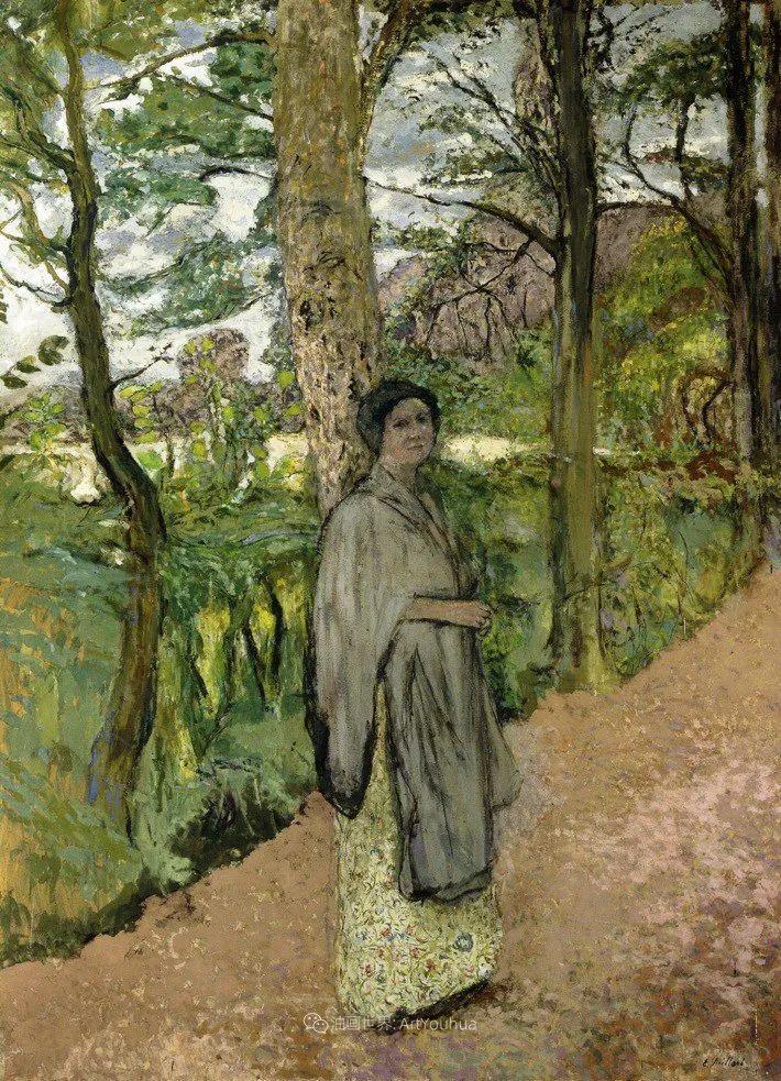 内景主义创始人,法国画家爱德华·维亚尔插图123