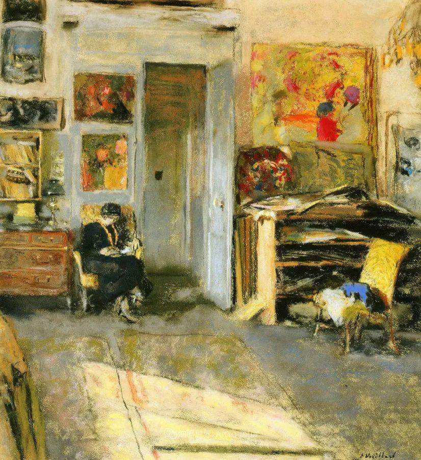 内景主义创始人,法国画家爱德华·维亚尔插图125