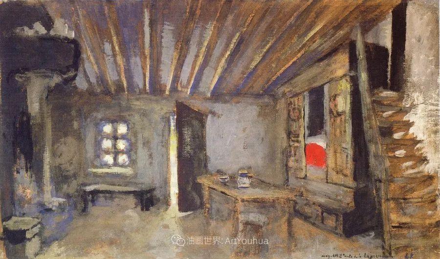 内景主义创始人,法国画家爱德华·维亚尔插图137