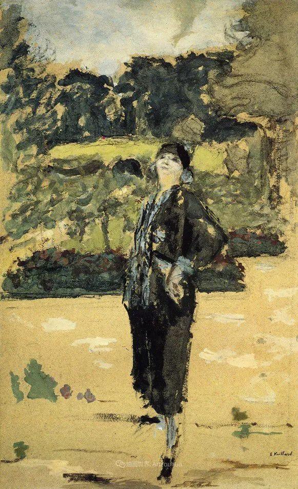 内景主义创始人,法国画家爱德华·维亚尔插图141