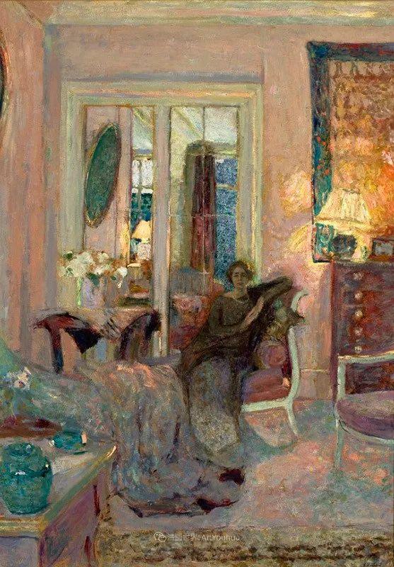 内景主义创始人,法国画家爱德华·维亚尔插图143