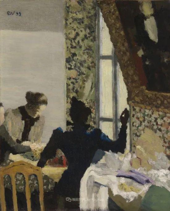 内景主义创始人,法国画家爱德华·维亚尔插图151